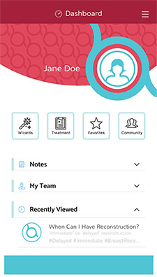 Breast Advocate® | Breast Cancer App | Dashboard2