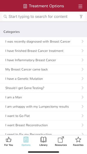 Breast Advocate® | Breast Cancer App | Treatment Options