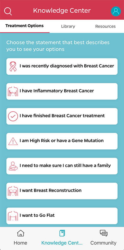 Breast Advocate App Knowledge Center