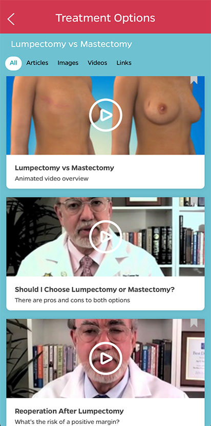 Free App for Breast Cancer Treatment and Breast Reconstruction Decision-Making
