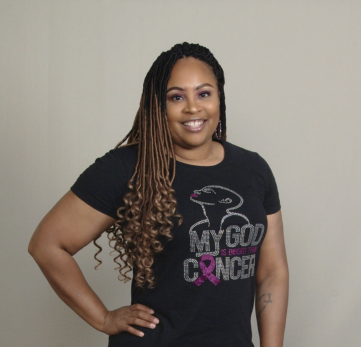 Breast cancer patient advocate Marquita is a huge Breast Advocate fan!