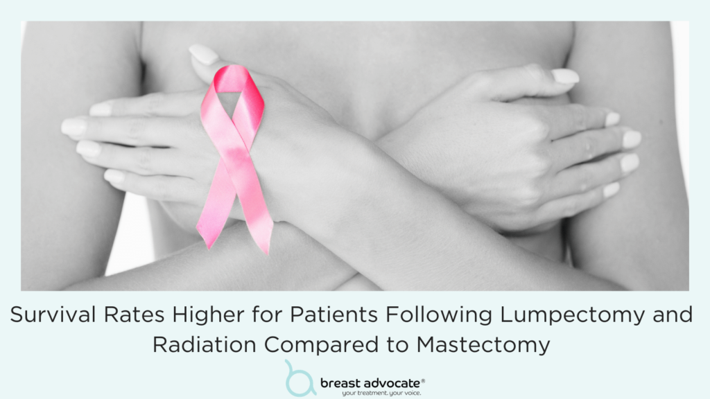 Survival Rates Higher for Patients Following Breast Conservation Surgery and Radiation Compared to Mastectomy